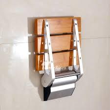 folding shower seat wall mounted canada bamboo teak wood grating p folding shower seat