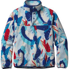 Patagonia Patterned Fleece Cool Lyst Patagonia Synchilla Lightweight Snapt Fleece Pullover In Blue