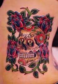 Tetování Lebka A Růže Tetování Tattoo