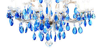 vintage chandeliers 8 arm marie therese with blue vintage droplets