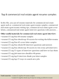 Commercial Real Estate Appraiser Sample Resume top10000commercialrealestateagentresumesamples1006310000jpgcb=10043273410000010000 78