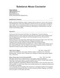 best substance abuse counselor resume sample gallery simple