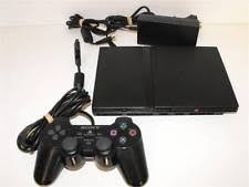 sony playstation 2 slim. black playstation 2 slim ps2 console + dual shock controller pal sony u