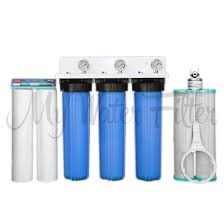 Whole House Filtration Systems Whole House 20 X 45 Triple Water Filter System Descaler Magnet
