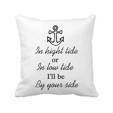 Anchor By Your Side Quote Cushion Cover Velvet Love Decorative Throw Pillows  Cases Letters Anniversary Valentine Gift 18