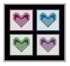 Free Printable Counted Cross Stitch Charts Free Heart Cross Stitch Printable Patterns