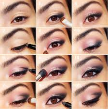 step by step pink smokey eye makeup tutorial