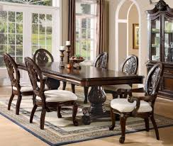 amazon 7pc formal dining table chairs set with claw design legs cherry finish table chair sets