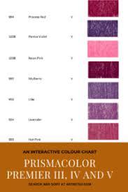 Violet Colour Chart Non Lightfast Prismacolor Premier Interactive Chart