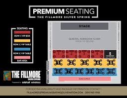 Fillmore Seating Chart Fillmore Silver Spring