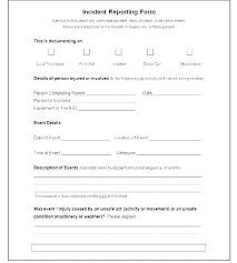 Information Technology Incident Report Template Best Medical