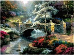 bridge of hope thomas kinkade art
