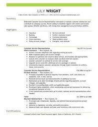 Cover Letter And Resume Examples Classy Customer Service Representative Customer Service Resume Example