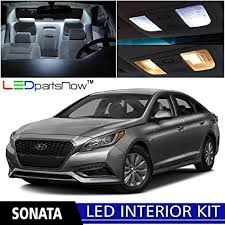 hyundai sonata 2015 white. Delighful Sonata LEDpartsNow 20152016 Hyundai Sonata LED Interior Lights Accessories  Replacement Package Kit 8 Pieces Intended 2015 White Y