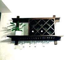 wall mounted wine glass rack. Mounted Wine Glass Rack Floating Wall Shel. \u003d Bath