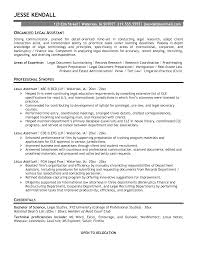 Legal Secretary Resume Template Saneme