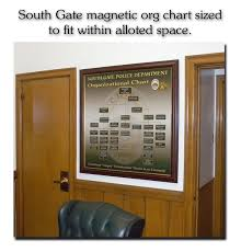 Badge Frame Org Chart Magnetic Charts Shadow Box