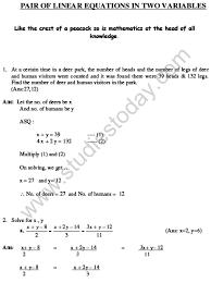 cbse class 10 mathematics hots pair of