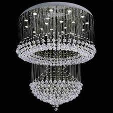 modern foyer crystal chandelier mirror stainless steel base 12 lights