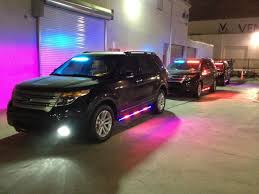 medley police department 2016 ford interceptor suv ppv command units with blue red front interior light bars and blue red side runners