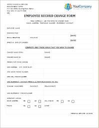 Employee Record Change Form Editable Printable Word Template Word