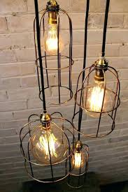 miseno light light chandeliers cage light chandelier 5 drop round cord and light bulbs lighting reviews