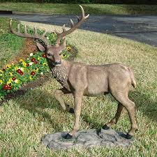 design toscano grand scale black forest deer 41 in animal garden statue