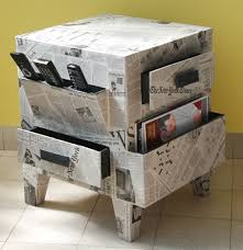 furniture made of recycled materials. Furniture. Creative Stand Table Recycled Newspaper Custom Come With Rectangular Top Shelf And Furniture Made Of Materials