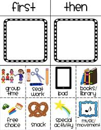 If Then Chart Autism Visual Schedule Worksheets Teaching Resources Tpt