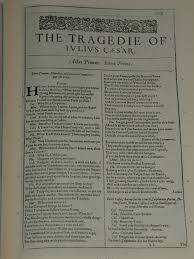 this essay explains marc antony s speech in the tragedy of julius  photo of the first page of julius caesar from a facsimile edition of the first folio