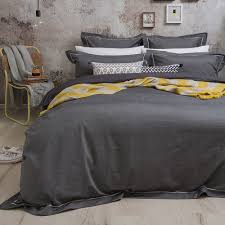charleston charcoal yarn dyed quilt cover set