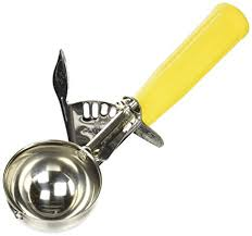 Winco Icd 20 No 20 Ice Cream Disher With Plastic Handle Yellow