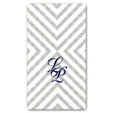 personalized chevron grey guest towels napkins for bathroom monogrammed paper p 9 linen feel guest towels