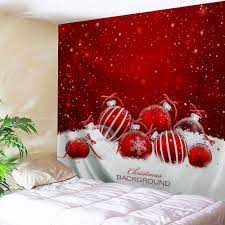 christmas ornaments printed wall art tapestry red w91 inch l71 inch on christmas wall art tapestry with 2018 christmas ornaments printed wall art tapestry red w inch l inch