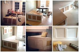 Bench Breakfast Nook Enticing Small Breakfast Nook With Withkitchen Storage Bench Plans
