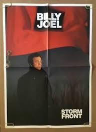 Official billy joel facebook page. Billy Joel Vintage Poster Storm Front Promo Pin Up Music Memorabilia 1990 S Ebay