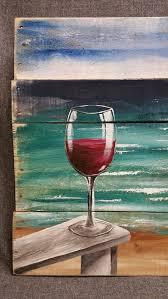 pallet wood beach red wine painting pallet by thewhitebirchstudio chairdrawing