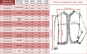 Blazer Size Chart Jacket Measurement Guide With Size Chart Fashion2apparel