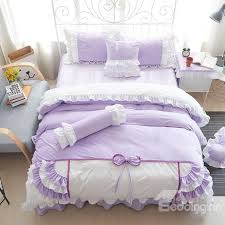 super soft princess style lace trim 4 piece velvet duvet cover sets