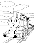 Раскраска паровозика томаса