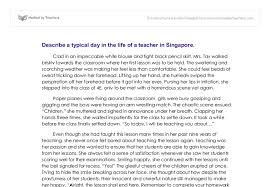 describe a typical day in the life of a teacher in singapore  document image preview