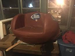 budlight football chair 20 has rip on the bottom