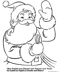 Printable Santa Coloring Pages Free