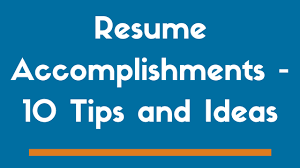10 Resume Accomplishments To Get You Noticed Examples Zipjob