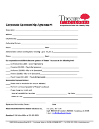 sponsorship agreement sponsorship agreement form fill online printable fillable blank
