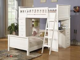 image of loft bed with desk underneath