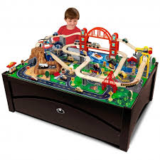 inspirational kidkraft waterfall mountain train table and train set 17850 wooden table train set