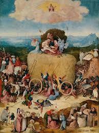 central panel the haywain hieronymus bosch the hay wain center