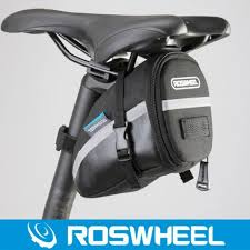 roswheel bicycle bag rear cycling seat bags pu leather bike seatpost bag pouch seat saddle rear tail package black outdoor backpack for laptop cycle bags