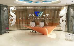 specific use reception desk high end artificial stone shiny solid surface reception desk illuminated acrylic lighted reception desk reception counter design